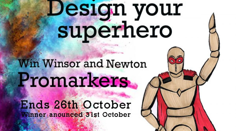 Competition Time: Design your superhero and win Winsor and Newton promarkers