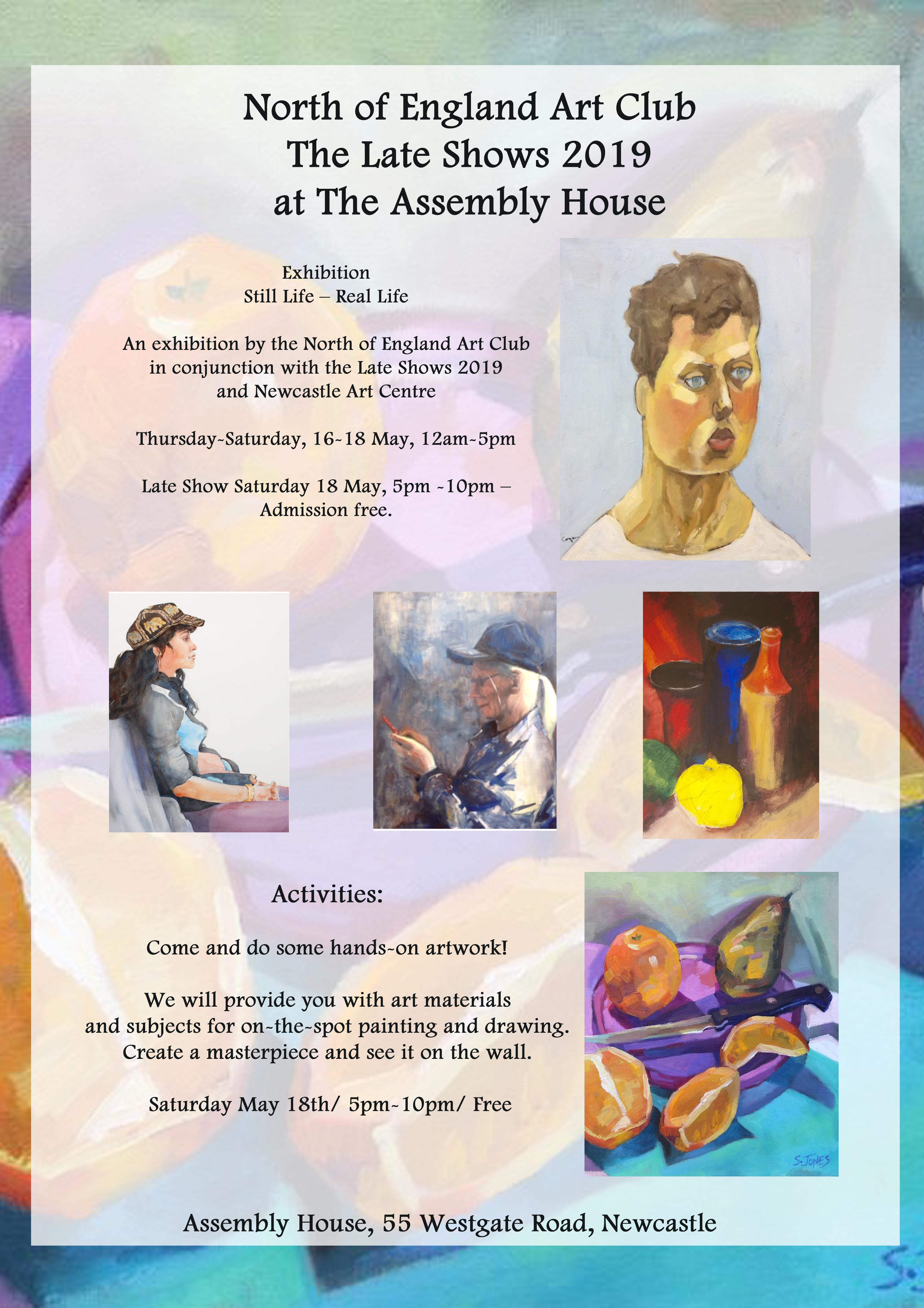 North of England Art Club at The Late Shows 2019 – Newcastle