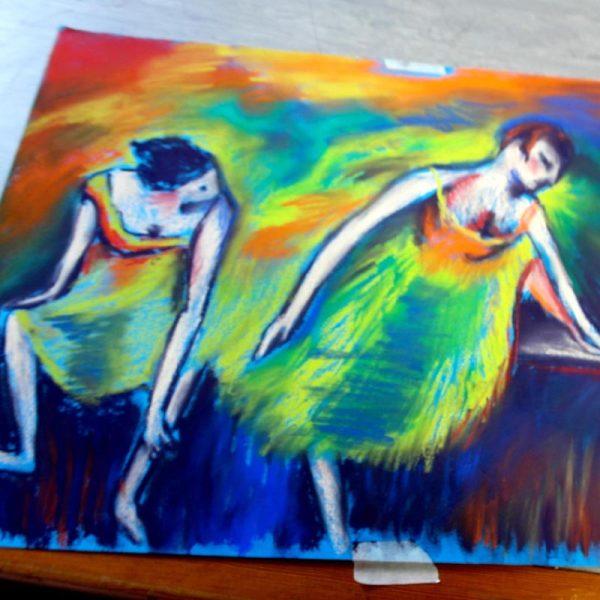 Ballerinas-Art-Course-Pastel-Painting-NAC-Aidan-Doyle