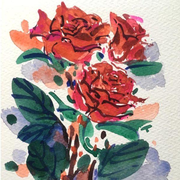 Chun-Chao-Watercolours-Flowers-Art-Course-Newcastle-Arts-Centre