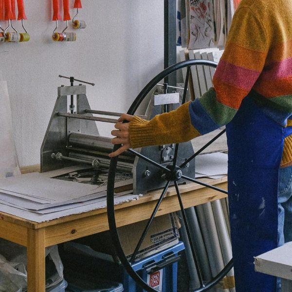 Press-Lino printing