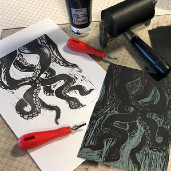 Introduction to Single Block Lino Printing (August)